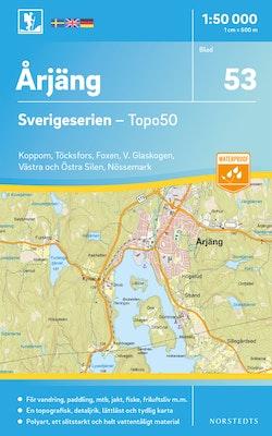 53 Årjäng Sverigeserien Topo50 : Skala 1:50 000