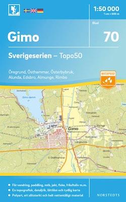 70 Gimo Sverigeserien Topo50 : Skala 1:50 000