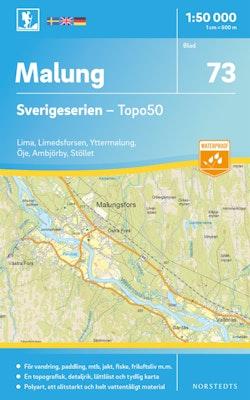 73 Malung Sverigeserien Topo50 : Skala 1:50 000