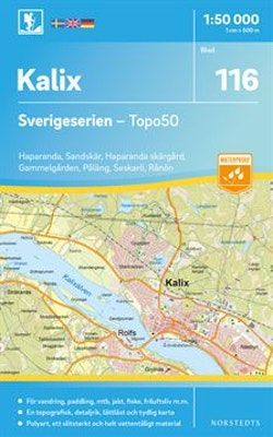 116 Kalix Sverigeserien Topo50 : Skala 1:50 000