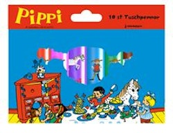 Pippi 10 st Tuschpennor