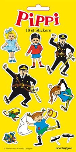Pippi - Stickers : 18 stickers