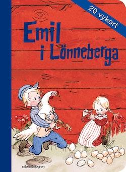 Emil i Lönneberga - Vykortsbok : 20 vykort