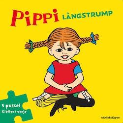 Pippi Långstrump Pusselbok : 5 pussel med 12 bitar i varje