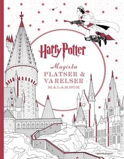 Harry Potter Magiska platser och varelser Målarbok
