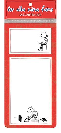Dagbok för alla mina fans : magnetblock röd