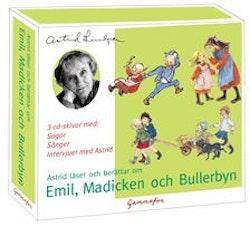 Astrid läser och berättar om Emil, Madicken och Bullerbyn